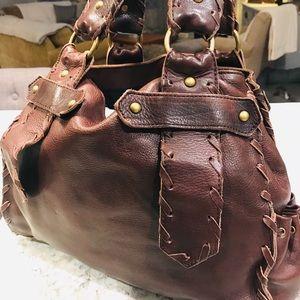BCBG Hobo Brown Leather Bag